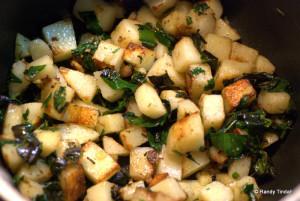Nadia's Potatoes with Wild Leeks